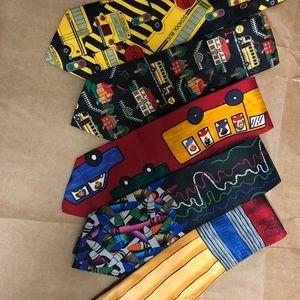 School themed ties